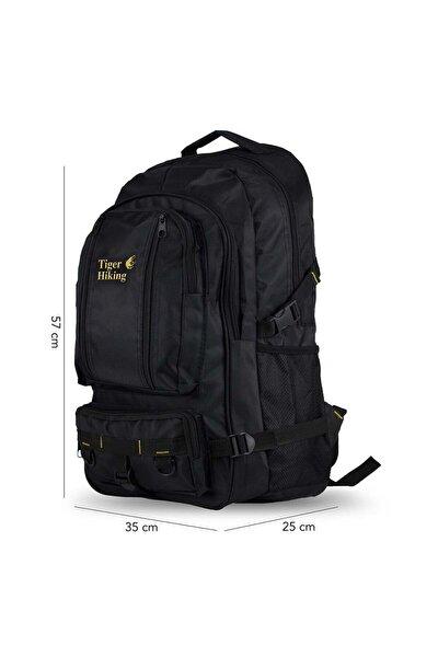 Unisex Siyah Hiking Dağcı Sırt Çantası Seyahat Ve Kamp Çantası