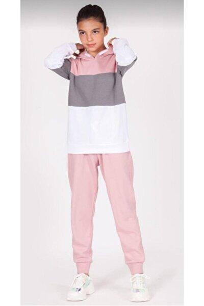 Kız Çocuk Pembe Basıc Eşofman Takımı