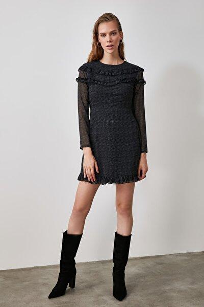 Çok Renkli Volanlı Elbise TWOAW21EL0901