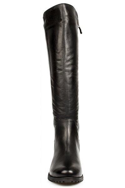 Kadın Siyah Deri Çizme D20kc-2040
