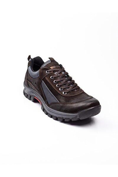Erkek Kahverengi Deri Outdoor Ayakkabı 200130