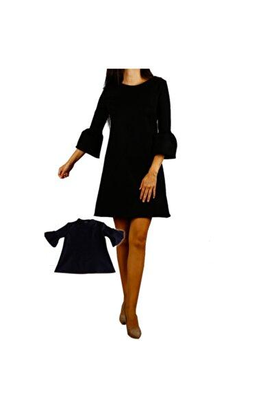 Anne Kız Siyah Çan Mini Takım Elbise