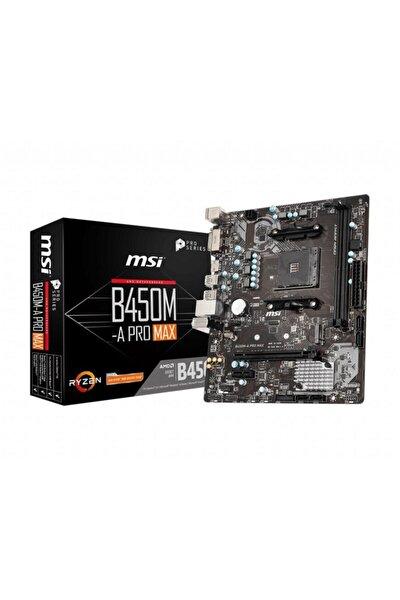 B450m-a Pro Max Ddr4 4133mhz (oc) Am4 Micro Atx Anakart