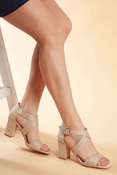 Vizyon-Süet Kadın Ayakkabı DXTRSFLDN208