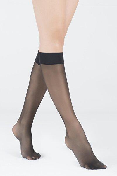 Kadın Siyah Dizaltı Opak 30 Denye Basic Çorap
