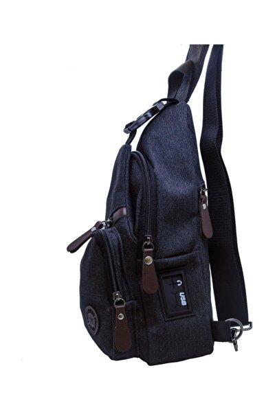 New Polo Usb Girişli Çapraz Çanta Bodybag