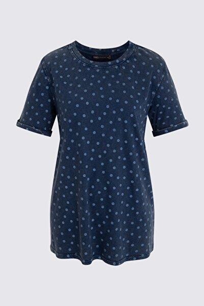 Kadın Mor Kısa Kollu T-Shirt T41006660