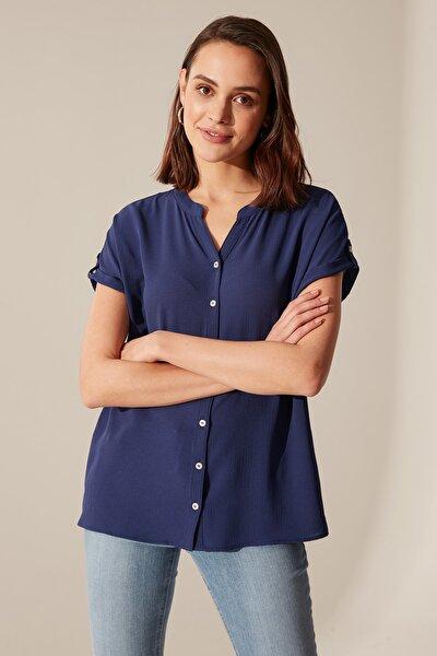 Kadın Açık Lacivert Gömlek 0SC836Z8