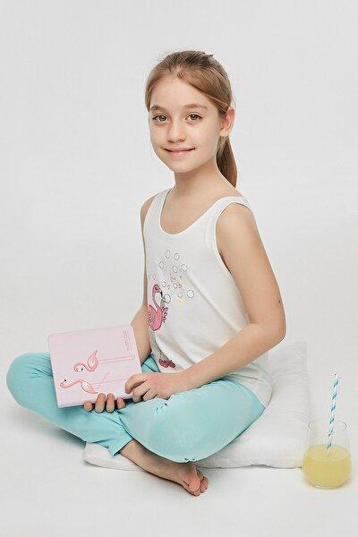 Çok Renkli Teen Flamingo 2Li Pijama Set