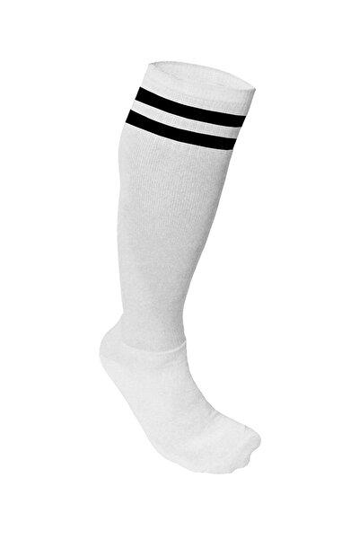 Süper Futbol Tozluğu-Çorabı Beyaz Siyah - 36849