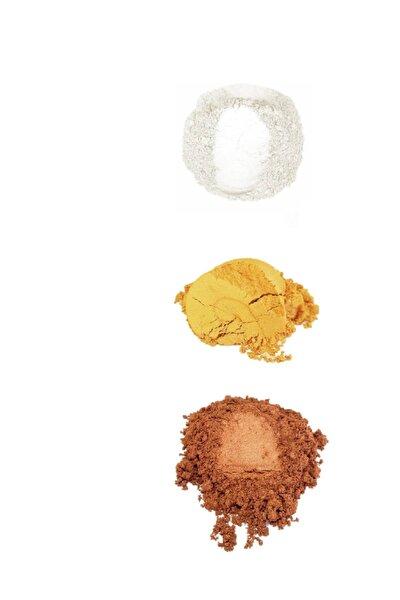 Sedef Tozu 3'lü Set Altın-Bronz-Sedef Epoksi Poliüretan Polyester Pigmenti 30gr