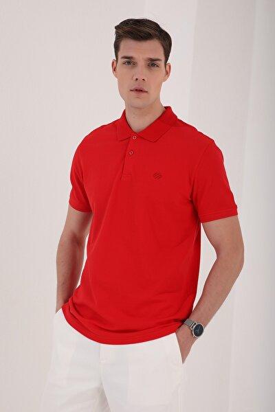 Polo Yaka Kırmızı Erkek Tshirt T08ER-87748