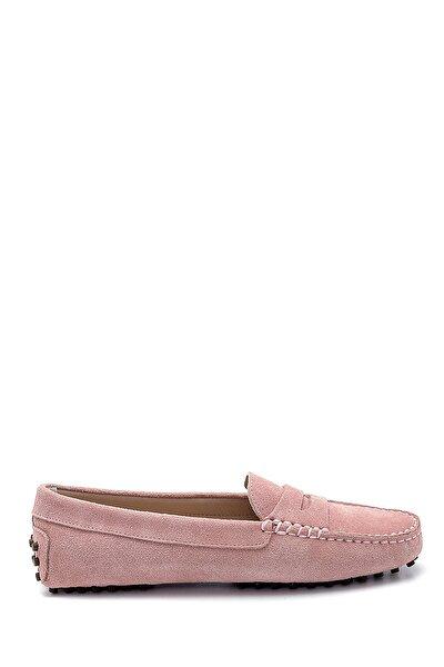 Kadın Mor Süet Loafer Ayakkabı
