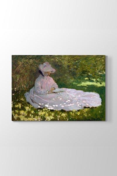 Claude Monet - Springtime Tablosu (Model 1) - (ÖLÇÜSÜ 45x30 cm)