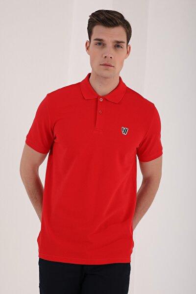Klasik Polo Yaka Kırmızı Erkek Tshirt T08ER-87768