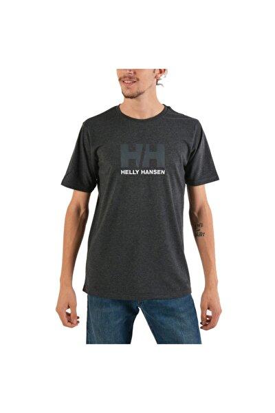 Hh Logo Erkek T-shirt Ebony