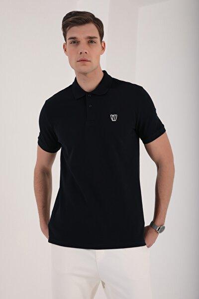 Klasik Polo Yaka Lacivert Erkek Tshirt T08ER-87768