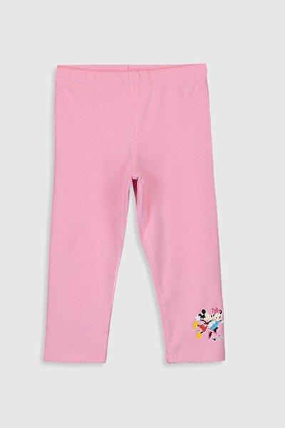 Mickey Mouse Kız Çocuk Pembe Ga5 Tayt
