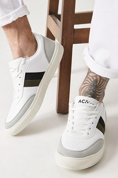 Erkek BEYAZ-SIYAH-GRI Casual Spor Sneaker Ayakkabı