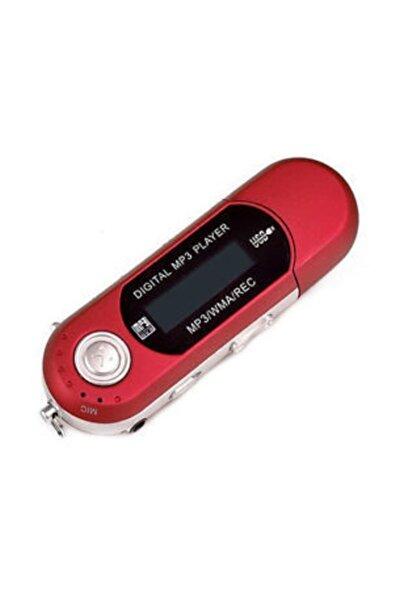 4 Gb Pilli Mp3 Player Müzik Çalar Fm Radyo Ses Kayıt-Kırmızı