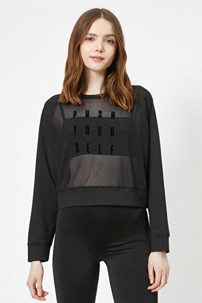 Kadın Siyah Sweatshirt 0YAK12926NK
