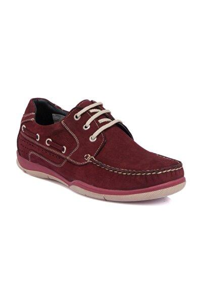 Hakiki Deri Bordo Nubuk Deri Erkek Ayakkabı  E19I1AY54151