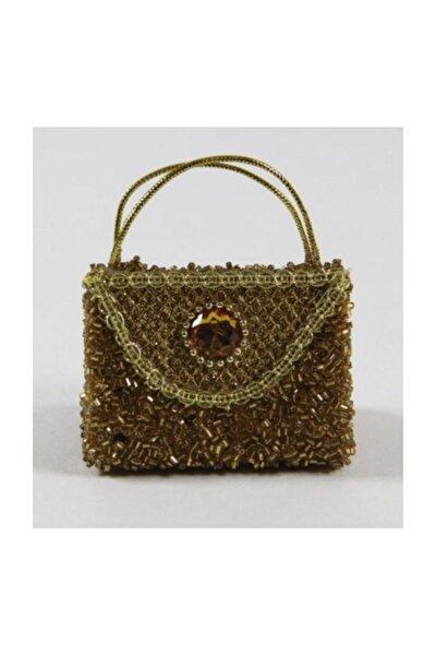 Altın Boncuklu Mini Çanta