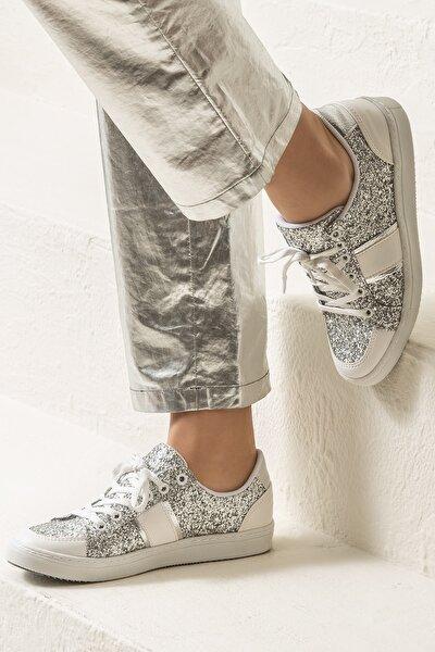 AREAL Gümüş Kadın Ayakkabı