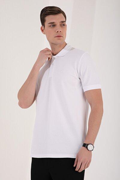 Polo Yaka Beyaz Erkek Tshirt T08ER-87748
