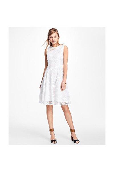 Kadın Beyaz Kuş Gözü Elbise