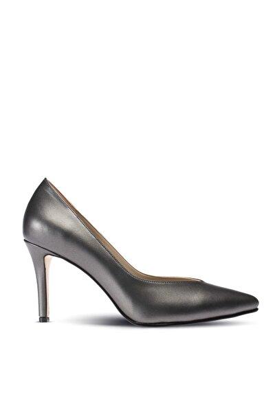 Gri Kadın Klasik Topuklu Ayakkabı 02048ZLCVM01