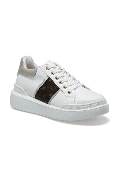 20S-311 Beyaz Kadın Kalın Taban Sneaker Spor Ayakkabı 100517449