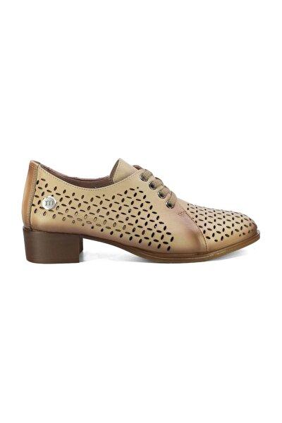 Kadın Hakiki Deri Ayakkabı Bej D20ya-3515