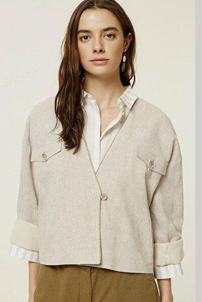 Kadın Vizon Cep Detaylı Ceket 0YKCK5156X