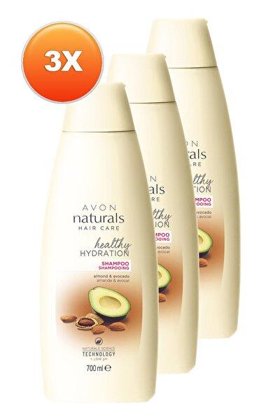 Naturals Badem ve Avokado Yağı İçeren Şampuan 700ml - 3'lü Paket