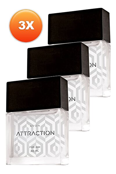 Attraction Erkek Parfüm Edt 30 ml 3'lü Set 5050000105347