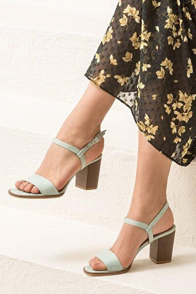 GUSTINEE Su Yeşili Kadın Sandalet