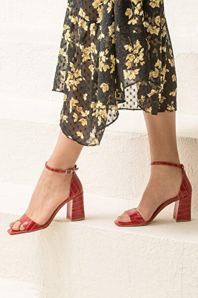 ALLAYA Kırmızı Kadın Sandalet