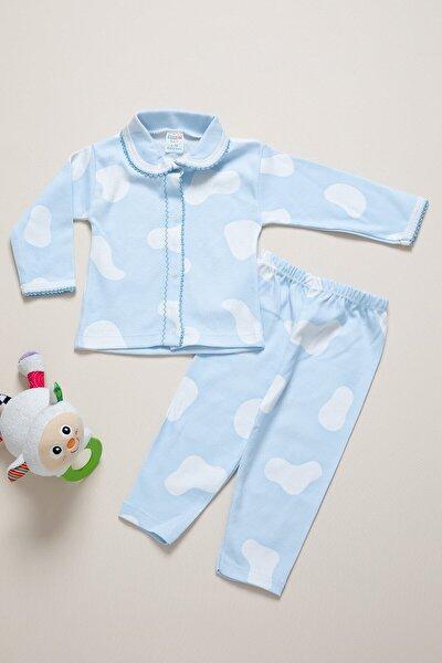 Unisex Bebek Mavi Takım