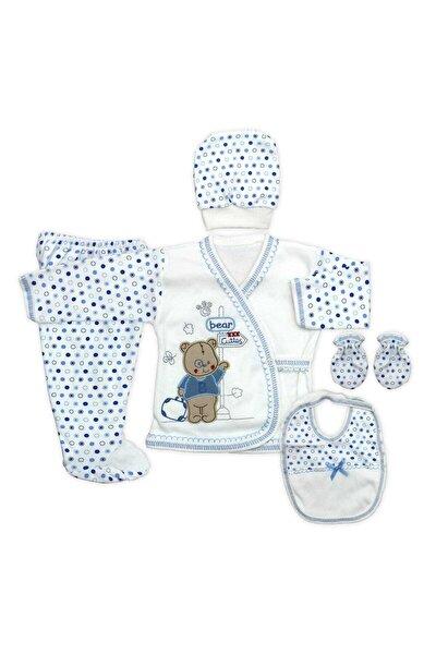 Bebek Mavi Ayıcıklı Yenidoğan  Hastane Çıkışı Seti 5'li K2271