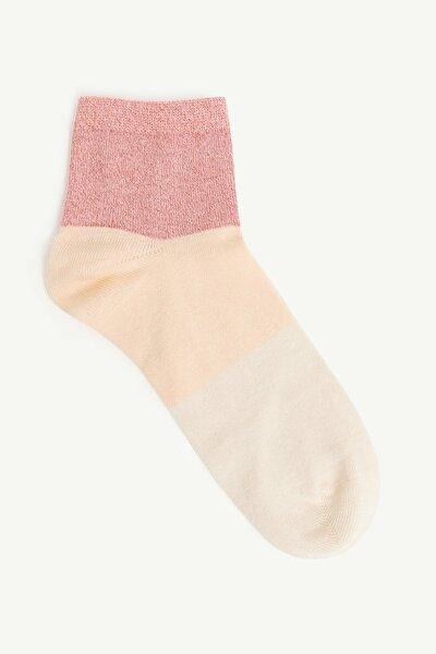 Kadın Pembe Simli Çorap 0YKCR4014X