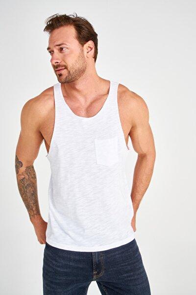 Beyaz Erkek Slim Fit Atlet TMNSS20AL0054