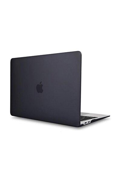 Macbook Pro 13 A1989 Touch Bar 2018 - Macbook Pro 13 2019 A2159 Shell Rubber Kapak Kılıf - Siyah