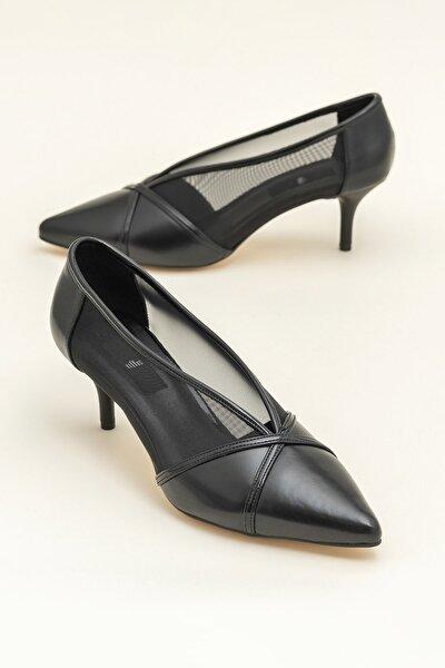 MIKENNA Siyah Kadın Topuklu Ayakkabı