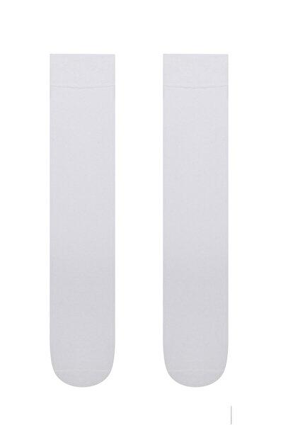 Beyaz Klasik Pantolon Çorabı