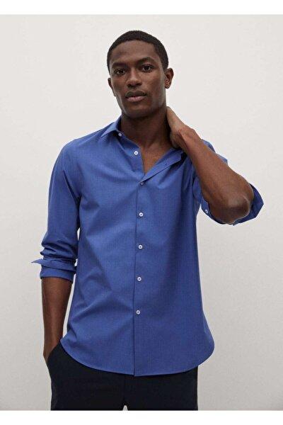 Erkek Dar Kesim Streç Pamuklu Kumaşlı Gömlek