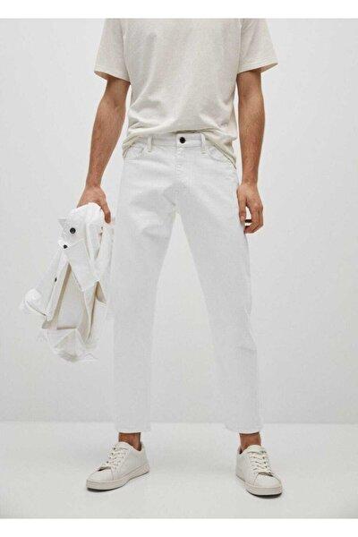 Ben Beyaz Tapered Kesim Jean Pantolon