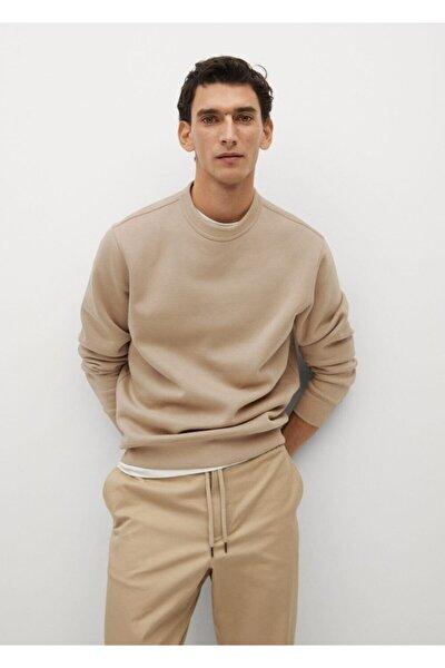 Erkek Kahverengi Peluş Sweatshirt