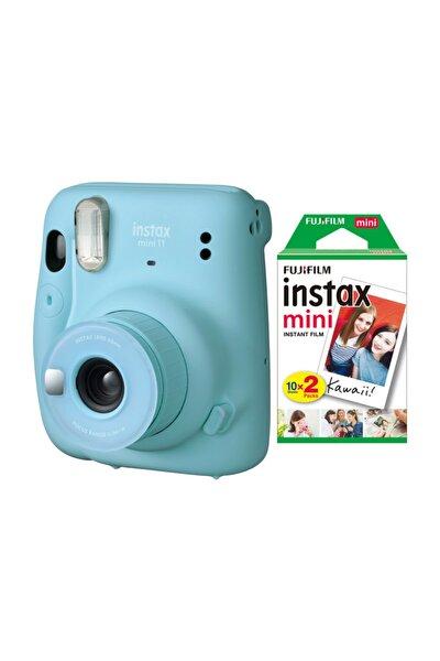 Instax Mini 11 Mavi Fotoğraf Makinesi 20li Film