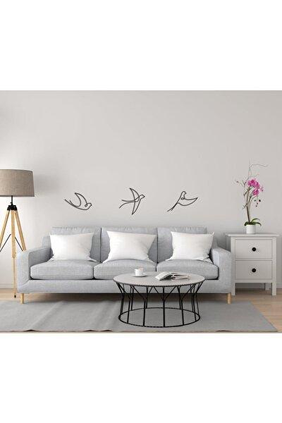 Dekoratif Ahşap Modern Üçlü Kuş Duvar Süsü Duvar Dekor